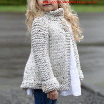 chompas tejidos para niñas abiertas