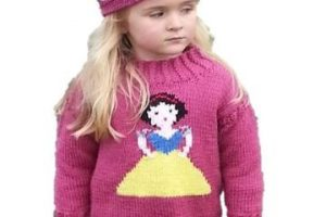 Diseños en chompas tejidos para niñas a 2 agujas