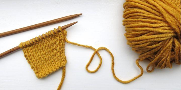 distintos puntos de tejido a dos agujas basicos