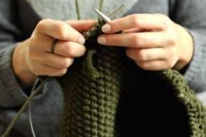 3 distintos puntos de tejido a dos agujas originales