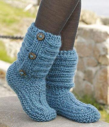 escarpines para adultos al crochet botones