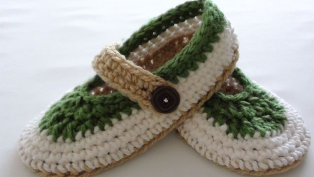 escarpines para adultos al crochet para chicas
