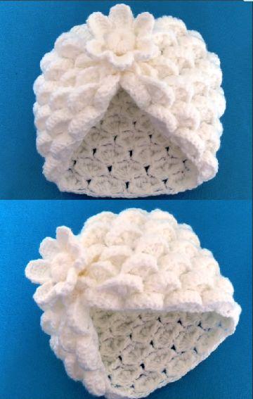 gorros a crochet en 3d original