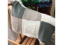 Bonitas mantas de lana de colores con agujas a 56 cuadrados