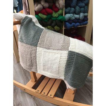 mantas de lana de colores mezcla a cuadros