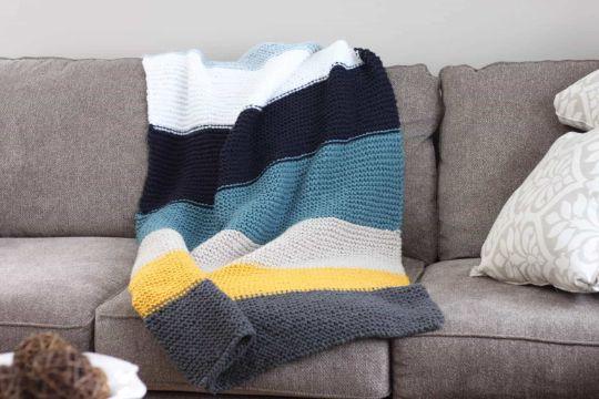 mantas de lana de colores para sillones