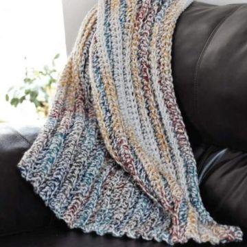 mantas de lana para sofa a colores