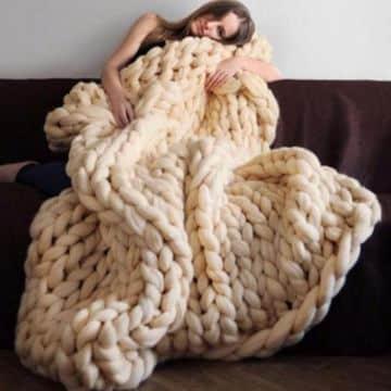 mantas de lana para sofa hechas a mano