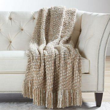 mantas de lana para sofa texturas