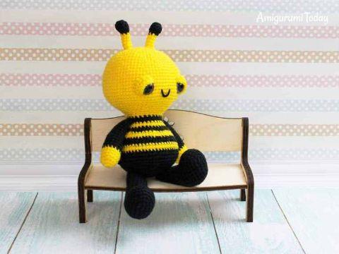abeja amigurumi patron gratis con manos y pies