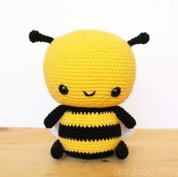 abeja amigurumi patron gratis grande