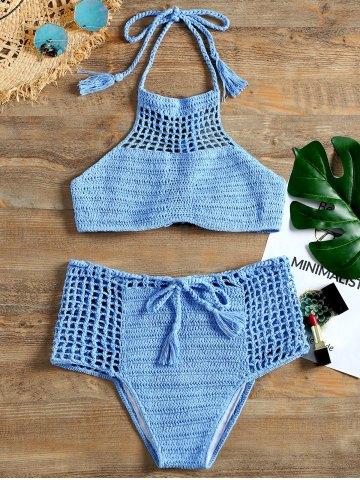 bikinis hechos a crochet con top