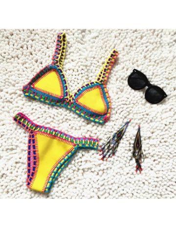 bikinis hechos a crochet modernos