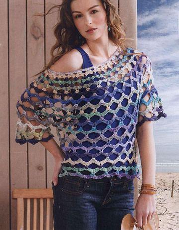 blusas de crochet para verano cuellos originales