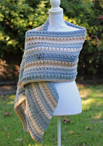 chalinas a crochet para mujeres a colores