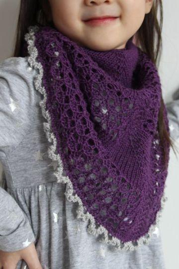 chalinas a crochet para niñas con puntos calados