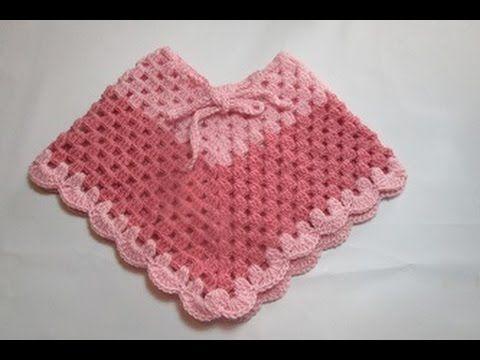 chalinas a crochet para niñas tipo capa