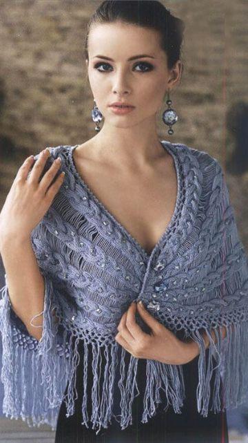 chalinas tejidas a palitos elegante