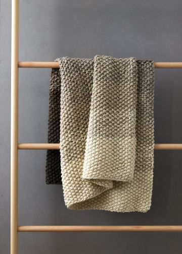 cobijas de lana de borrego a dos tonos