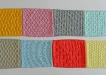 Muestras y cuadros tejidos para colchas con ganchillo 4mm