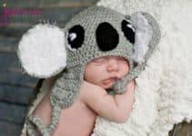 4 diseños tiernos en gorros a crochet para bebes