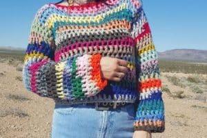 Jerseys de ganchillo hechos a mano con gancho 3.5 mm