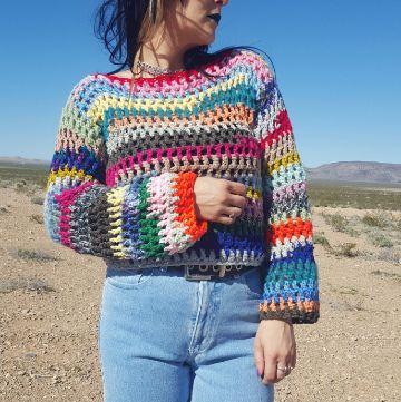 jerseys de ganchillo hechos a mano a colores
