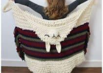 Diseños en mantas de alpaca a crochet 2 para niños