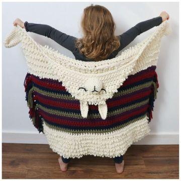 mantas de alpaca a crochet para niñas