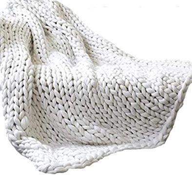 mantas de lana hechas a mano trenzados sencillos