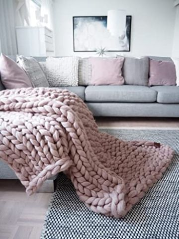 mantas de lana merino decorativas