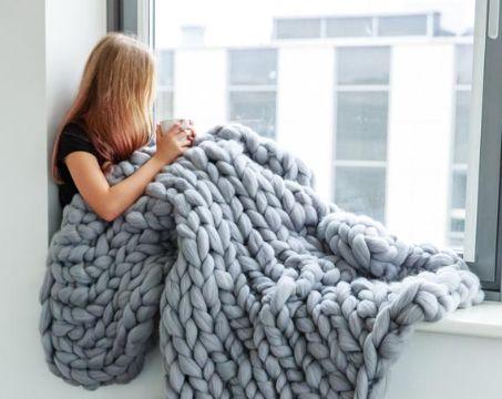 mantas de lana merino para invierno