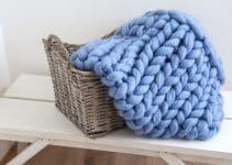 4 diseños de mantas de lana merino tejidas con las manos