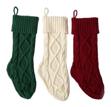 medias de lana tejidas con puntos en relieve