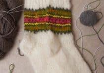 Bonitas medias de lana tejidas 2 agujas con punta redonda