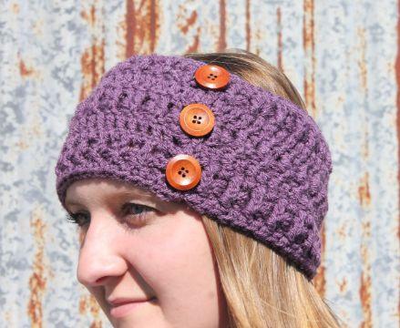 vinchas de lana para niñas con botones