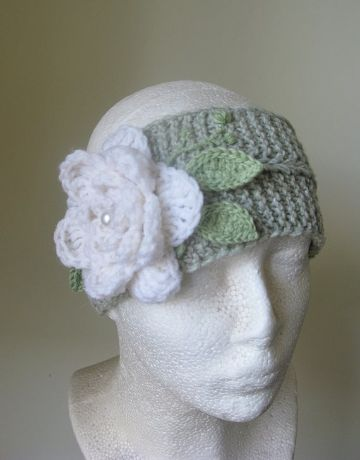 vinchas de lana para niñas con flores