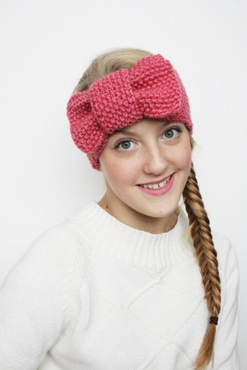 vinchas de lana para niñas tipo moño