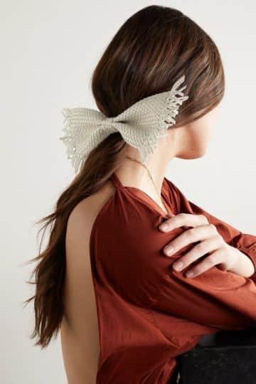 accesorios para el cabello tejidos moños originales
