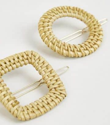 accesorios para el cabello tejidos sujetadores