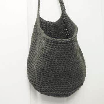 canastas a crochet patrones tipo bolsa