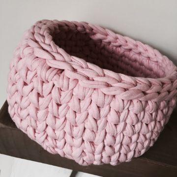canastas a crochet patrones trapillo