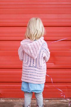 chompas a crochet para niñas calado con gorro