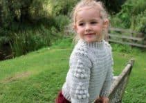 Geniales chompas a crochet para niñas con ganchillo de 5mm