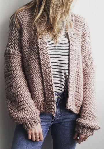 chompas de lana para señoritas abiertos