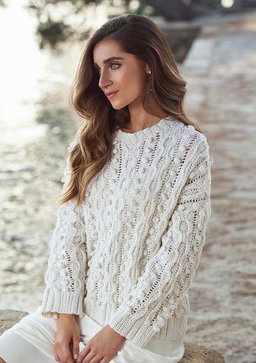 chompas de lana para señoritas puntos con texturas