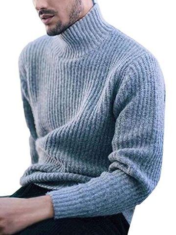 chompas tejidas para hombre cuello de tortuga