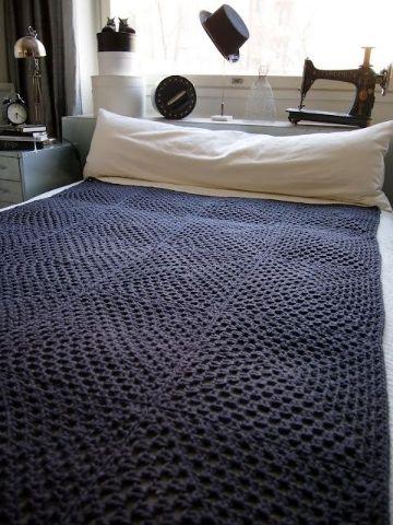 colchas a crochet paso a paso cuadros grandes