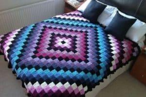 Hermosas colchas a crochet paso a paso con gancho del 5