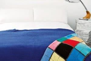 5 pasos para muestras para colchas de colores a crochet